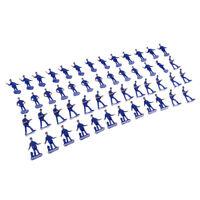50PCS Simulation Action Figure Painted Police Figure Miniatures Model Layout