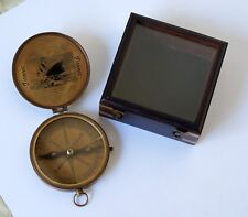 Brass Compass Wooden Box Sinking Of The Titanic Compass Camping Navigation Gift