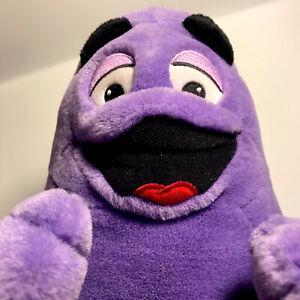 "McDonalds Grimace Purple Plush 2002 - RARE 15"""