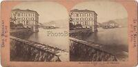 Palacio Midoya Borromeo Lago Maggiore Italia Lamy Vintage Albúmina C 1870