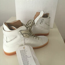 Maison MARTIN MARGIELA PARIS h&m High Top Sneakers Bianco WHITE in pelle 40 US 7