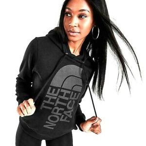 New North Face Womens Athletic Black Half Dome Hiking Pullover Hoodie Jacket L