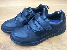 Clarks Kids black School Shoes  Double Strap - UK 1F - Boys