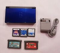 Nintendo DS Lite Cobalt Blue Handheld System w/ 5 games stylus and Charger