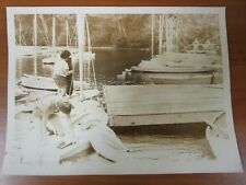 Vintage Press Glossy Photo Sherborn Massachusetts #6 Boats