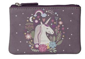 Mala Leather Unicorn Coin Purple Purse genuine soft leather girls teenagers