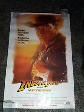 Indiana Jones and The Last Crusade Original Rolled Advance Movie Poster 1989