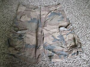 MENS CAMOUFLAGE AMERICAN EAGLE KHAKI CARGO SHORTS sz 34 camo paratrooper fatigue