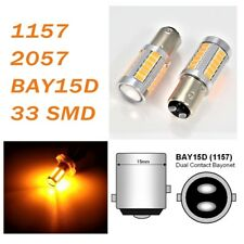 Amber Parking Light 1157 2357 3496 7528 BAY15D 33 SMD LED Bulb A1 AX
