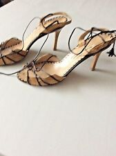 Manolo Blahnik, 40/9 Strappy High Heel Sandals
