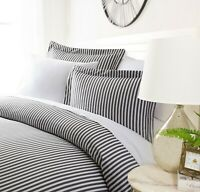 Luxury Ultra Soft Striped Night Duvet Cover Set By Sharon Osbourne Home