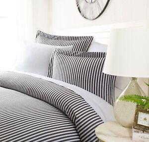 Luxury Ultra Soft Striped Night Duvet Cover Set By Sharon Osbourne Home
