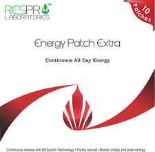 Respro Labs Energy Patch Extra with B12, Continuous Release, 10 Patches