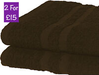 2X Jumbo Extra Large Beach Towels 100% Cotton Best Holiday Bath Sheet CHOCOLATE