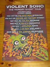 VIOLENT SOHO - 2013  HUNGRY GHOST Australian Tour - Laminated Promotional Poster