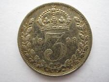 1898 Veiled Head silver Threepence, VF.