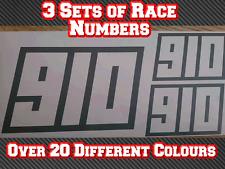 3 Sets Race Numbers Motorbike Track Sports Bike Custom Vinyl Sticker Decals D2
