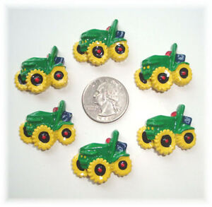 6PC MY BIG SEXY TRACTOR FLAT BACK FLATBACK RESINS 4 HAIRBOW BOW CENTER