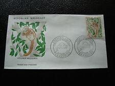 MADAGASCAR - enveloppe 9/10/73 - lepilemur mustelinus - yt n° 537 - (cy9)