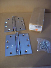 "HAGER ECBB1100 4.5"" x 4.5"" US26D SATIN CHROME HINGES  2 Hinges SC16"