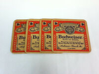 Budweiser beer coasters 1 bar coasters Anheuser-Busch Brewery cocktail drink UM1