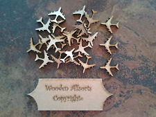 25x 3mm mdf wooden airplane shapes approx 20mm(h)x30mm(w) Craft, embellishments