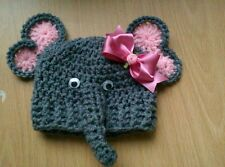 Crochet Newborn Baby  Photo Props elephant calf beanie hat boy girl unisex