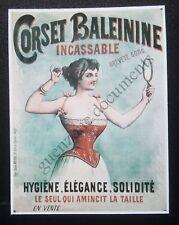 Publicité CORSET BALEININE INCASSABLE  advert