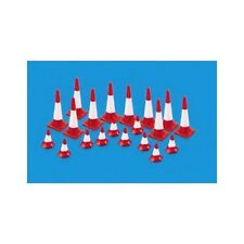 Peco 5008 HO-Scale Traffic Cones (20 Cones) Large and Small Red & White