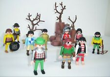 1974 Geobra Playmobil Bulk Lot People Mixed With Accessories and Decor Trees