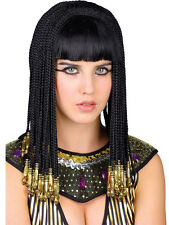 Queen Cleopatra Gold Braided Wig Black Fancy Dress Egyptian Queen Of The Nile