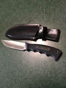 Remington U.S.A. Sportsman Fixed Blade Hunting Knife w/ Belted Leather Sheath