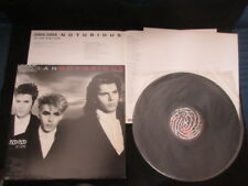 Duran Duran Notorious Japan Vinyl LP with OBI Poster New Romantic Arcadia Synth