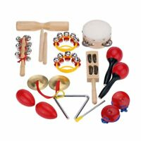 Percussion Set Kids Children Toddlers Music Instruments Toys Band Rhythm H5C2
