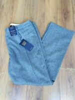*BNWT* Marks and Spencer wool blend trousers size 16 herringbone cashmere grey