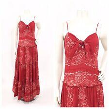 Denim Supply Ralph Lauren Ikat Boho Indian Paisley Maxi Dress Size S Women