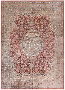 10x14 100% Silk Vintage Exceptional Tabrizz Rug Handmade Fine Silk Foundation