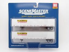 JB Hunt 53' Stoughton Trailer 2-Pack HO - Walthers SceneMaster #949-2453