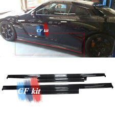 For Nissan GTR R35 2012+ Carbon Fiber Side Skirts Extension Underboard Panel Lip