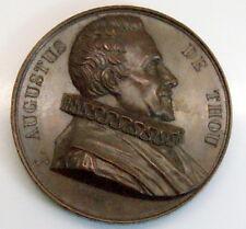 "RARE J. Augustus De Thou French 1 1/2"" Copper Medal"