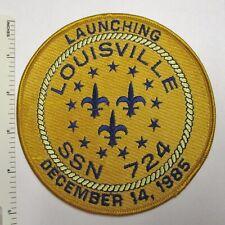 Us Navy Submarine Patch Uss Louisville Ssn-724 Launching 1985 Original Vintage
