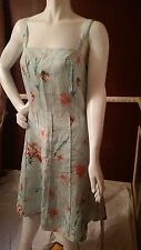 *NEW* ANN TAYLOR LINEN GREEN PINK ORANGE BLUE PATTERN DRESS SZ 10 Retail $119