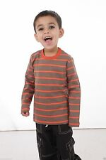 Boys' Striped Crew Neck Long Sleeve Sleeve T-Shirts & Tops (2-16 Years)