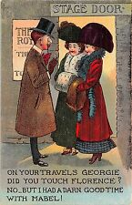 POSTCARD  COMIC   Travels    Georgie  Florence  and  Mabel......