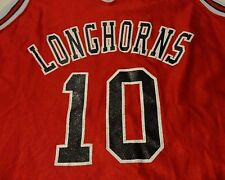 Vintage LONGHORNS BASKETBALL Jersey High School TEAM Fast FREE Shipping Medium