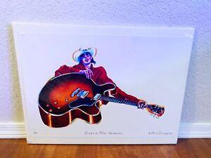 Stevie Ray Vaughan Watercolor Giclee Fine Art Print Jim Doody 7/10