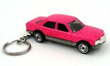 Custom Keychain Mercedes 380 SEL Pink Key Chain Ring Fob