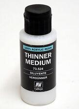 Vallejo Model Color THINNER MEDIUM 73.524 60ml 2 fl oz Acrylic Resin