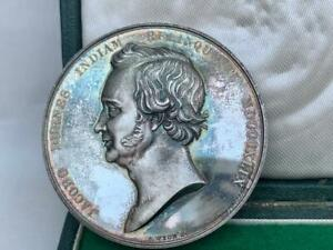 RARE SILVER MEDAL MONTROSE ACADEMY MASONIC LODGE RISING STAR BOMBAY INDIA 1849
