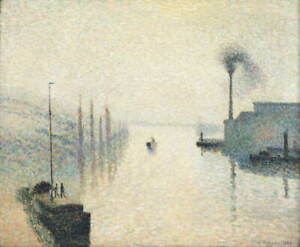 Camille Jacob Pissarro The Effect of Fog Poster Reproduction Giclee Canvas Print